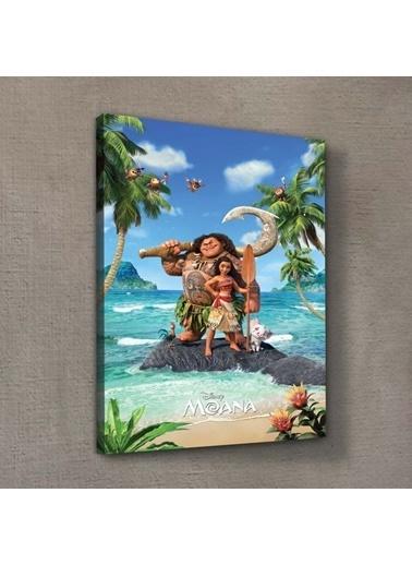 Disney Moana 50x70 cm Kanvas Tablo Renkli